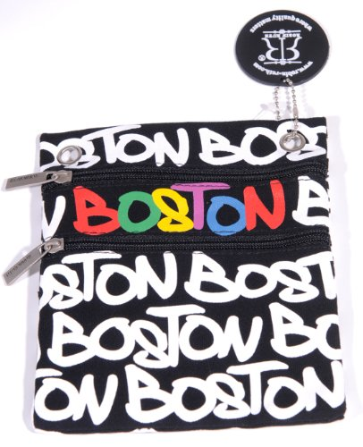 Robin Ruth Boston Neck Wallet Black/White/Rainbow
