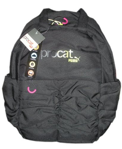 Puma Procat Black Shine Laptop Backpack Bag