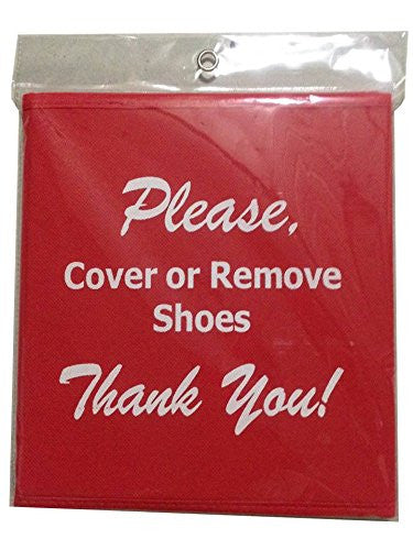 "Disposable Shoe Cover Box for Realtors ""Red Bootie Box"""