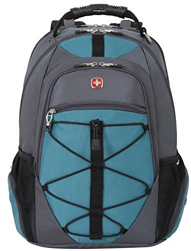 SwissGear SA6799 Grey with Teal TSA Friendly ScanSmart Computer Backpack-Fits Most 15 Inch Laptops and Tablets