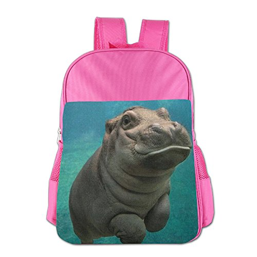 Camouflage Hippopotamus Kids School Backpack Children Book Bag
