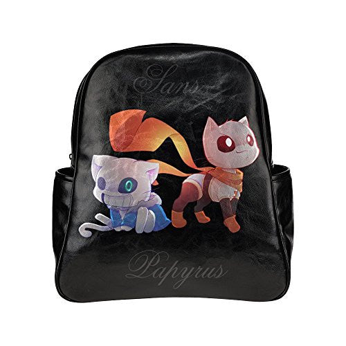 SLJD Unisex Sans And Papyrus Cat Version Undertale Stylish Multi Pocket Backpack