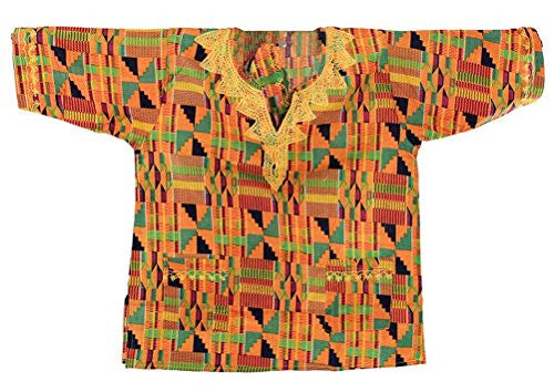 Unisex Kente Dashiki - Available in Several Kente Patterns, Kente Pattern 2