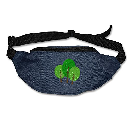 Cute Tree Mens&Womens Sport Style Bag Waist Pack Sling Pocket Super Lightweight For Running And Cycling Navy One Size