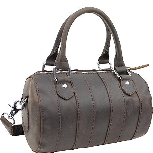Vagabond Traveler Leather Mini Duffle Shoulder Bag (Dark Brown)