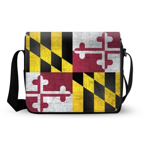 Maryland State Flag Mens Womens Daily Messenger Cross Body Shoulder Bag