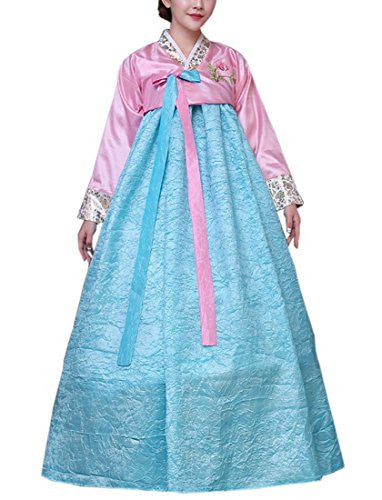 Lemail wig Women's Korean Traditional Long Sleeve Hanboks Dress Cosplay Costume