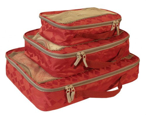 American Flyer Argyle 3-Piece Perfect Packing System, Red, One Size
