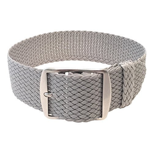 Wrist And Style Perlon Watch Strap - Light Grey | 18mm