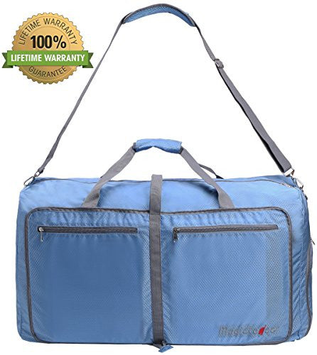 85L Foldable Travel Duffel Bag Travel Luggage for Gym Sports Blue Bagtrip BT02