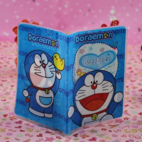 Winhappyhome Plastic Passport Cover ID Card Holder Case for Travel Abroad (Doraemon)