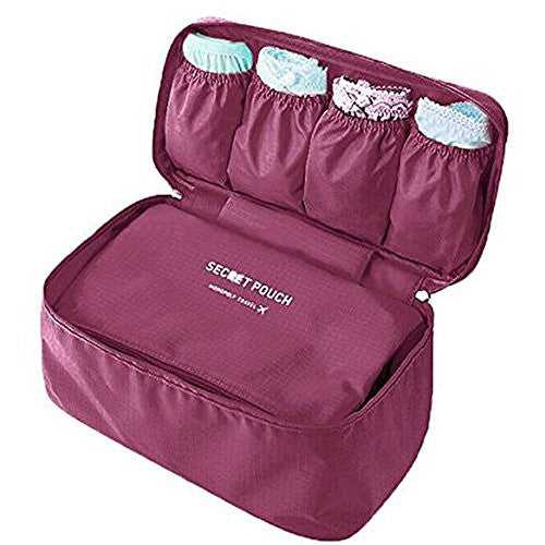 Huntvp Portable Storage Bag Packing Bra Underwear Mulit-Functional Makeup for Women