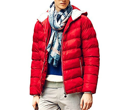 Men's Outerwear Jackets & Coats Boy's Cotton Padded Zip Quilted Light Hooded Sportswear
