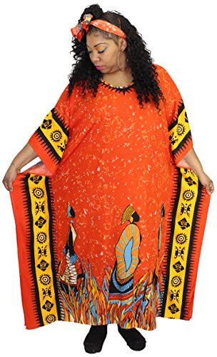 African Inspired Fashions One Size Traditional Kaftan Caftan - Many Colors Available (D)