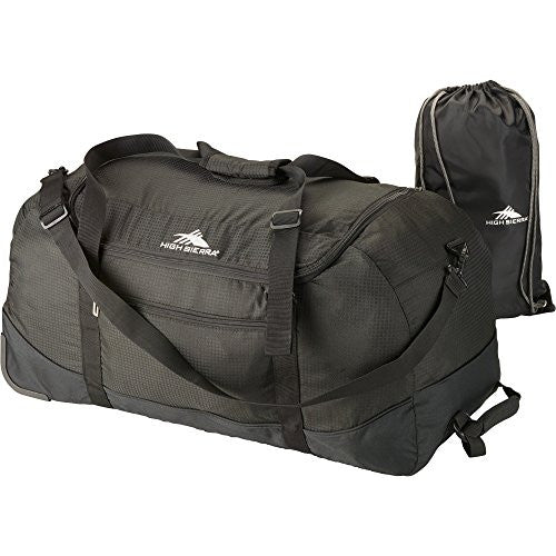 High Sierra Wheeled Duffel Bag with Cinch Sack, Black, 36-Inch