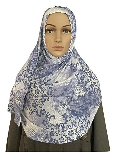 Lightweight Slip On Instant ready to wear Cotton Jersey Hijab Shawl (color4)