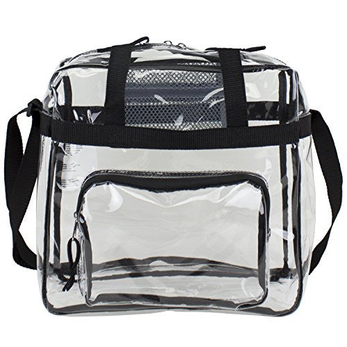 Eastsport Clear NFL Stadium Approved Tote, Medium - Black