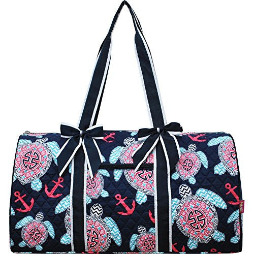Sea Turtle Anchor Print Gym Travel Dance Cheer Baby Duffle Bag