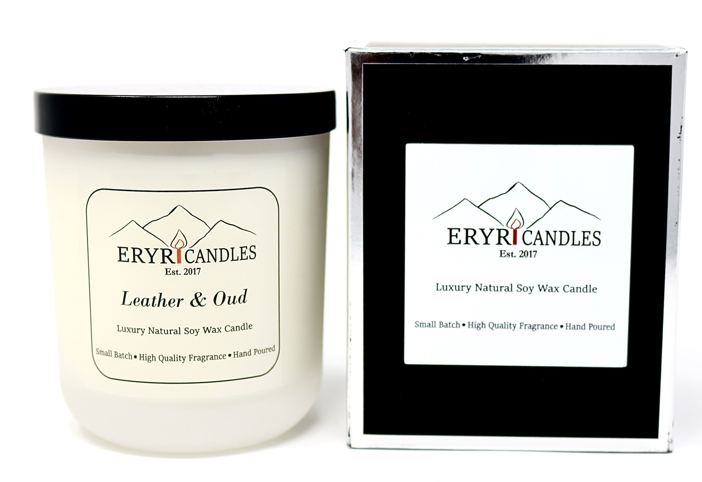 Leather & Oud Ribbon Candle