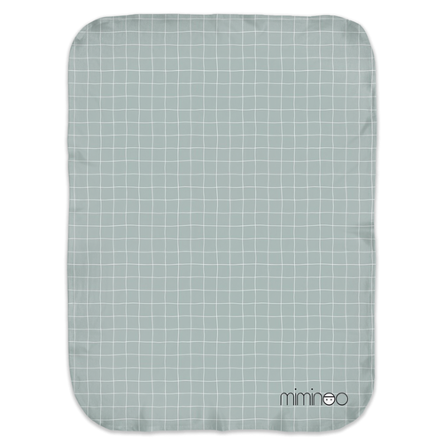 Baby Swaddle Blanket Grid Grey Sage
