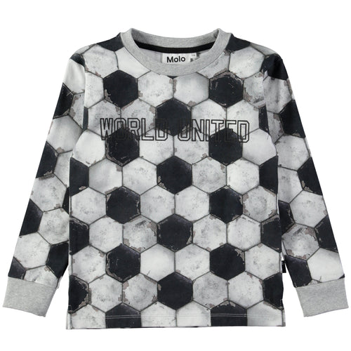 Molo Rai T-Shirts Ls Football Structure-TOPS-Molo- babies, kids and moms fashion, decor and accessories at Modern Kids Society USA