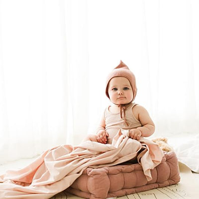 Snuggle Me Organic Cotton Baby Swaddle Sugar Plum