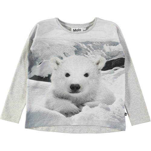Molo Renate T-Shirts Ls Polar Bear-T-shirts-MOLO- babies, kids and moms fashion, decor and accessories at Modern Kids Society USA