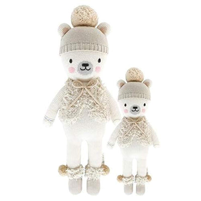 "CUDDLE + KIND Stella The Polar Bear Little 13"" Hand-Knit Doll"