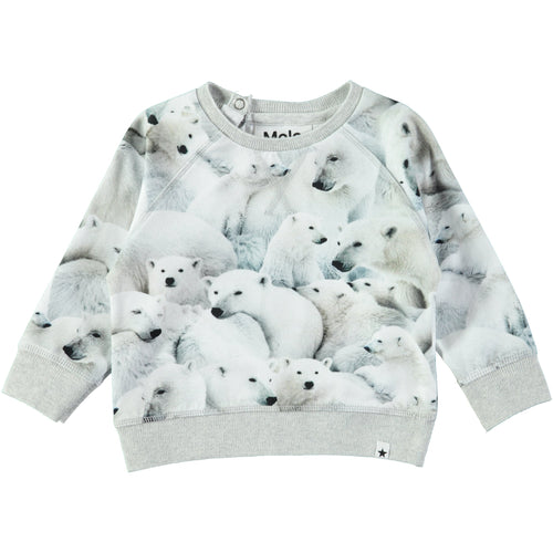Molo Elsa Sweater Polar Bear Jersey-SWEATERS-MOLO- babies, kids and moms fashion, decor and accessories at Modern Kids Society USA