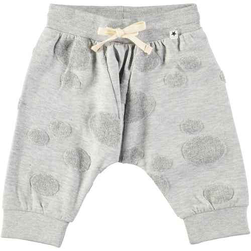 Molo Sona Soft Pants Light Grey Melange-BOTTOMS-Molo- babies, kids and moms fashion, decor and accessories at Modern Kids Society USA
