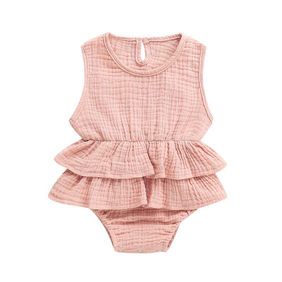 Ruffle Jumpsuit Cotton Linen Bush Pink-ROMPER-MODERN KIDS SOCIETY- babies, kids and moms fashion, decor and accessories at Modern Kids Society USA