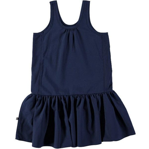 Molo Clary Dress Classic Navy-Dress-MOLO- babies, kids and moms fashion, decor and accessories at Modern Kids Society USA