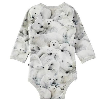 Molo Fonda Bodystockings Ls Polar Bear Jersey-Bodystockings-MOLO- babies, kids and moms fashion, decor and accessories at Modern Kids Society USA