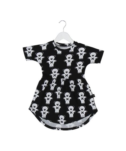 Huxbaby Soldier Bears Swirl Dress Black-DRESS-HUXBABY- babies, kids and moms fashion, decor and accessories at Modern Kids Society USA