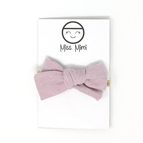 Corduroy Hair Bow Mauve