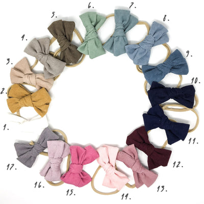 Corduroy Hair Bow Cream