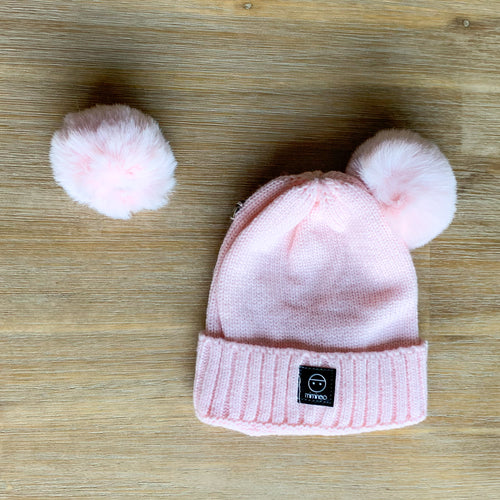 Baby Classic removable vegan pompoms pink Miminoo Modern Kids Society USA
