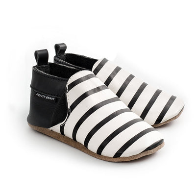 Pretty Brave Slip On Black And White Stripes-SHOES-PRETTY BRAVE- babies, kids and moms fashion, decor and accessories at Modern Kids Society USA