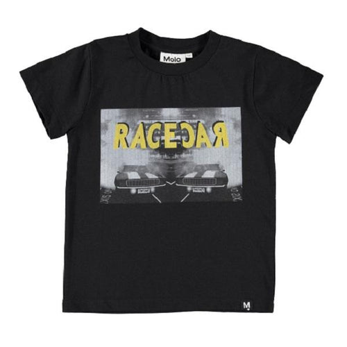 Molo Raymont T-Shirts Ss Racecar Yellow-T-shirts-MOLO- babies, kids and moms fashion, decor and accessories at Modern Kids Society USA