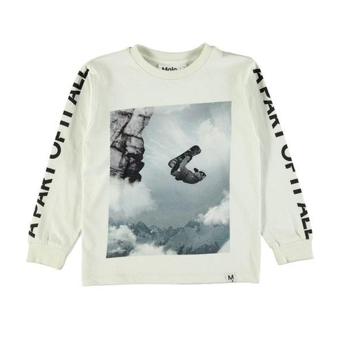 Molo Rezo T-Shirts Ls Snowboarder-T-shirts-MOLO- babies, kids and moms fashion, decor and accessories at Modern Kids Society USA