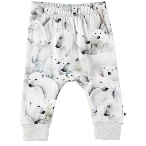 Molo Simone Soft Pants Polar Bear Jersey-Soft pants-MOLO- babies, kids and moms fashion, decor and accessories at Modern Kids Society USA