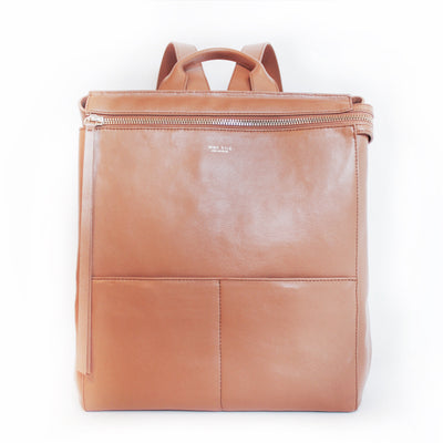 Harper Backpack Leather Diaper Bag Tan