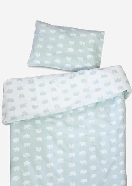 Bjorn Crib Bedding Set Sage Green