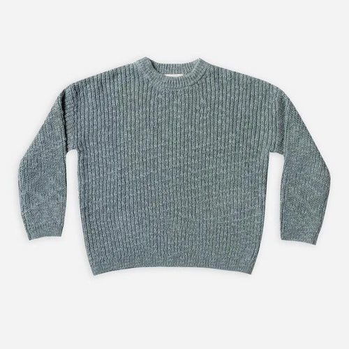 Rylee & Cru Boxy Pullover Sweater Dusty Blue