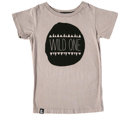 Mini And Maximus Organic Cotton Wild One tee Grey
