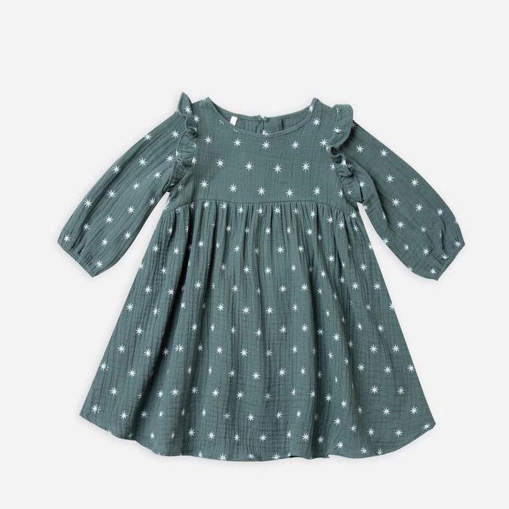 Rylee & Cru northern star piper dress spruce