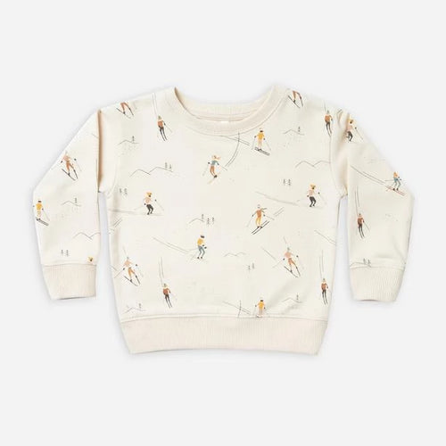 Rylee & Cru Ski Sweatshirt in Wheat