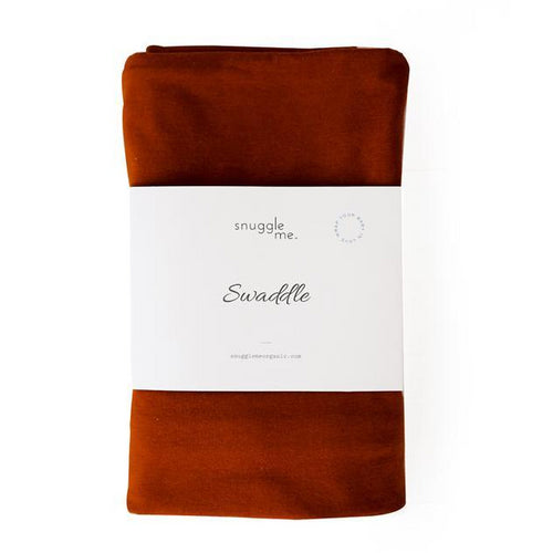Snuggle Me Organic Cotton Baby Swaddle Rust