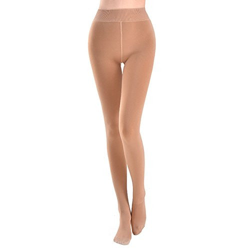 Blostirno Women's Thermal Pantyhose with Fleece Lined (Camel Tan)