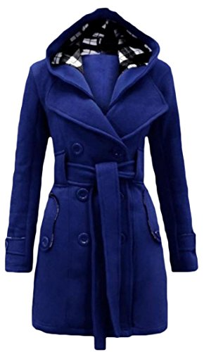 Comfy Womens Stylish Double-Breasted Overcoat Trench Coat Jacket 6 XL